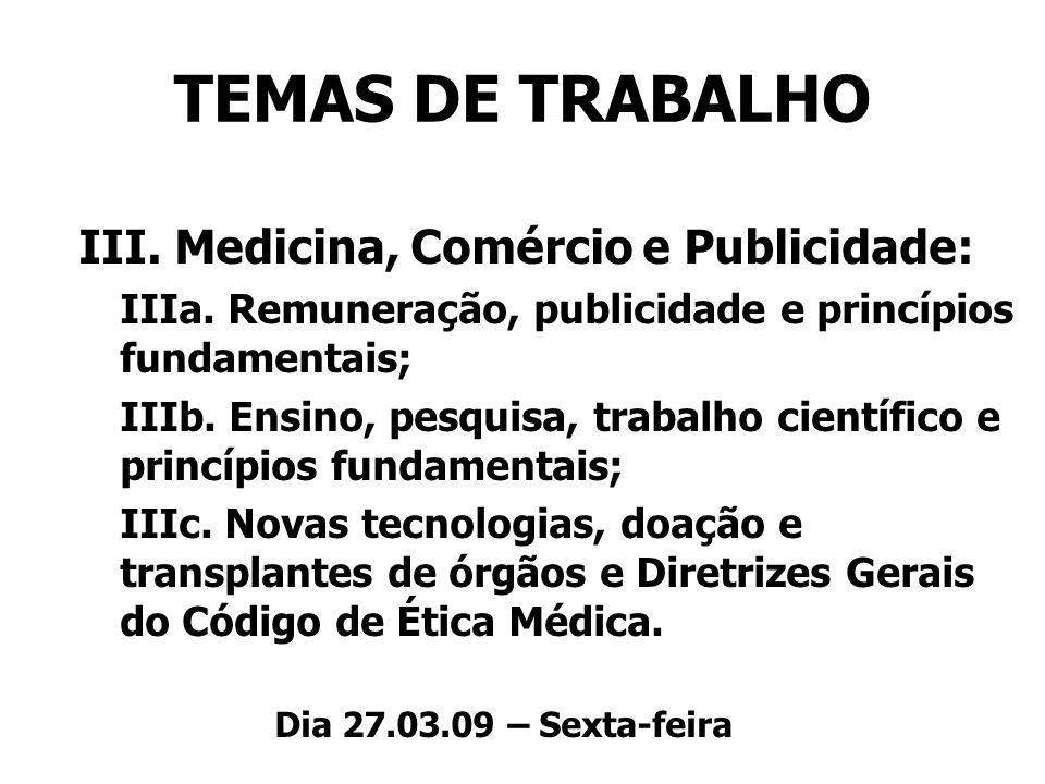 III. Medicina, Comércio e Publicidade: