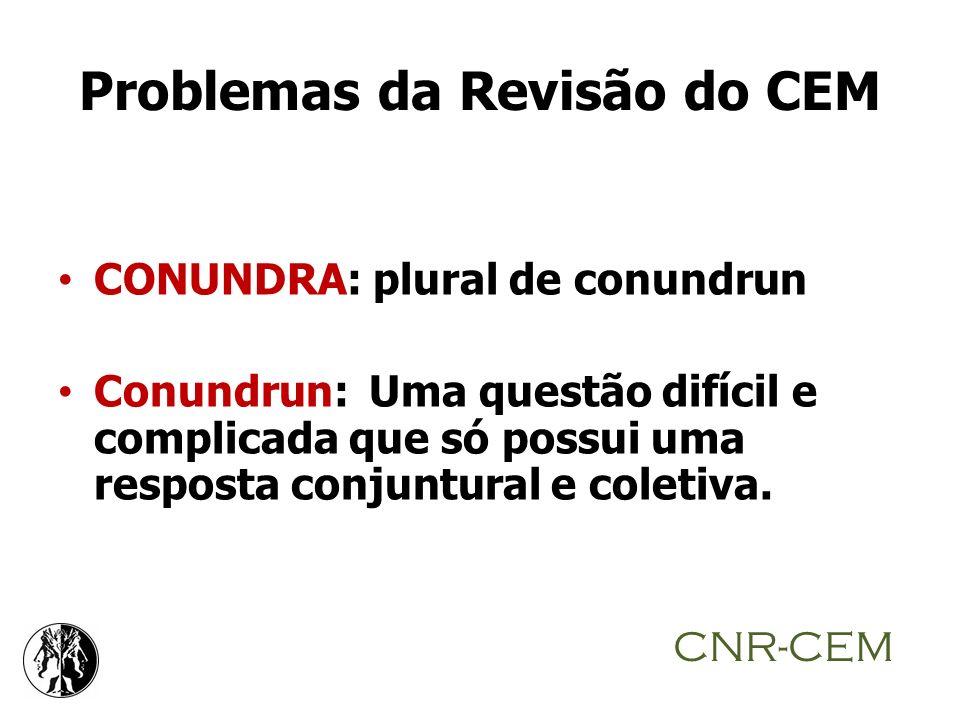 Problemas da Revisão do CEM