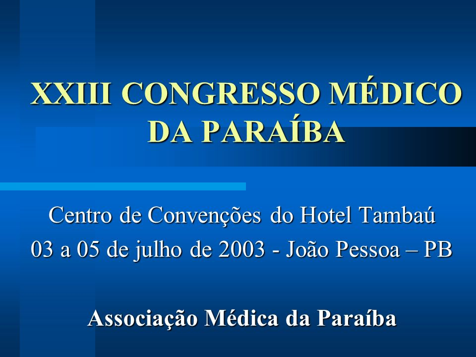 XXIII CONGRESSO MÉDICO DA PARAÍBA