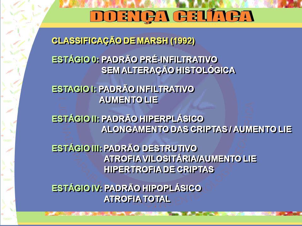 D O E N Ç A C E L Í A C A CLASSIFICAÇÃO DE MARSH (1992)
