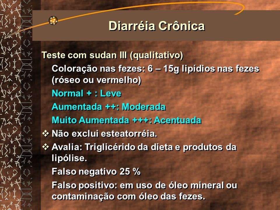 Diarréia Crônica Teste com sudan III (qualitativo)