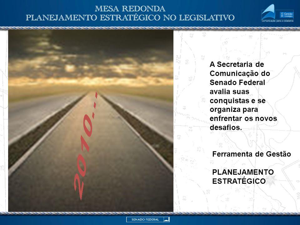 2010... A Secretaria de Comunicação do Senado Federal avalia suas conquistas e se organiza para enfrentar os novos desafios.