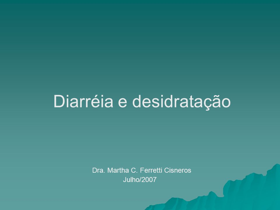 Diarréia e desidratação