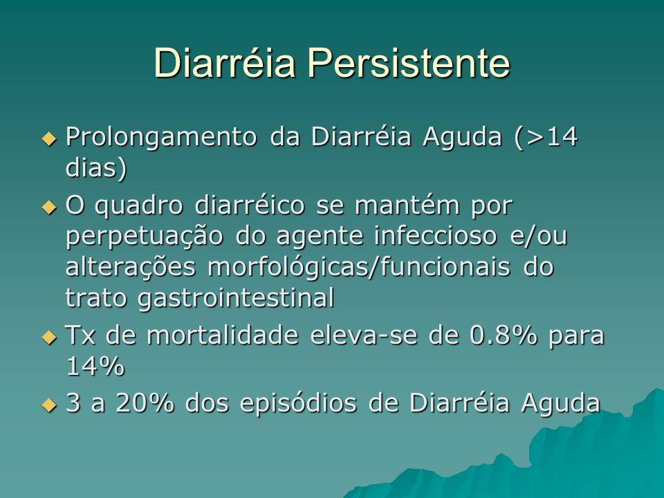 Diarréia Persistente Prolongamento da Diarréia Aguda (>14 dias)