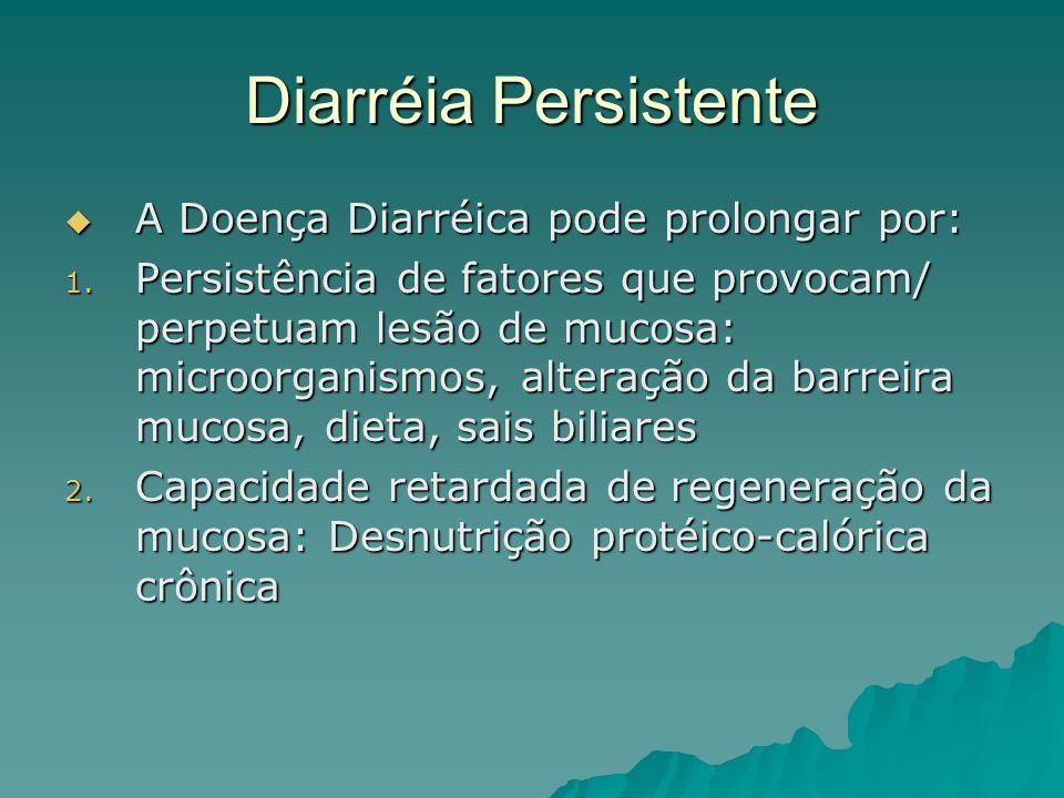 Diarréia Persistente A Doença Diarréica pode prolongar por:
