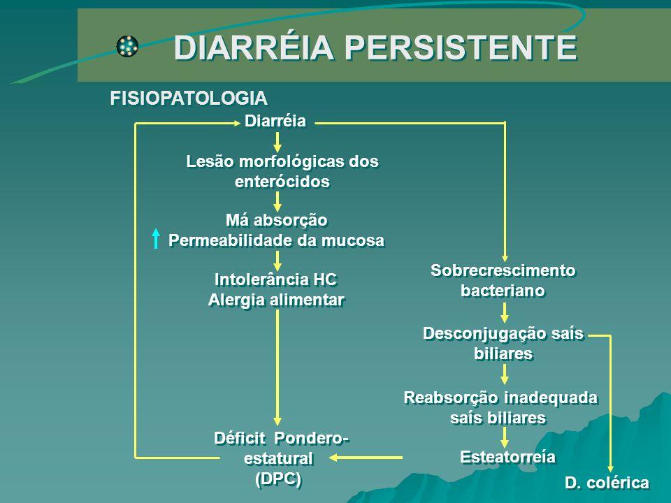 Lesão morfológicas dos enterócidos Permeabilidade da mucosa