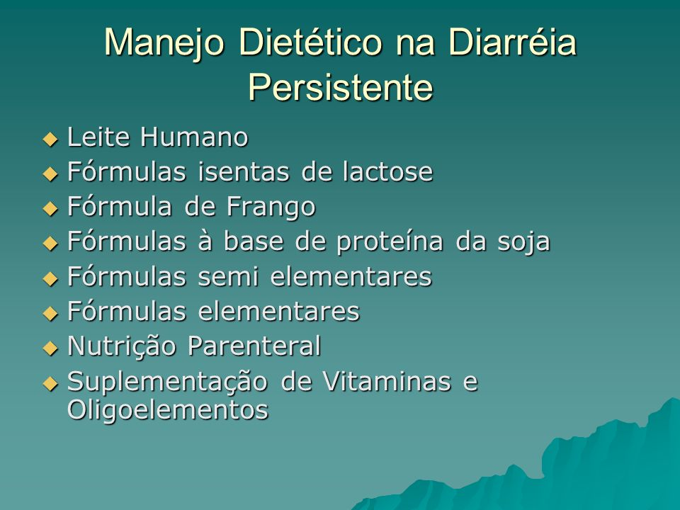 Manejo Dietético na Diarréia Persistente