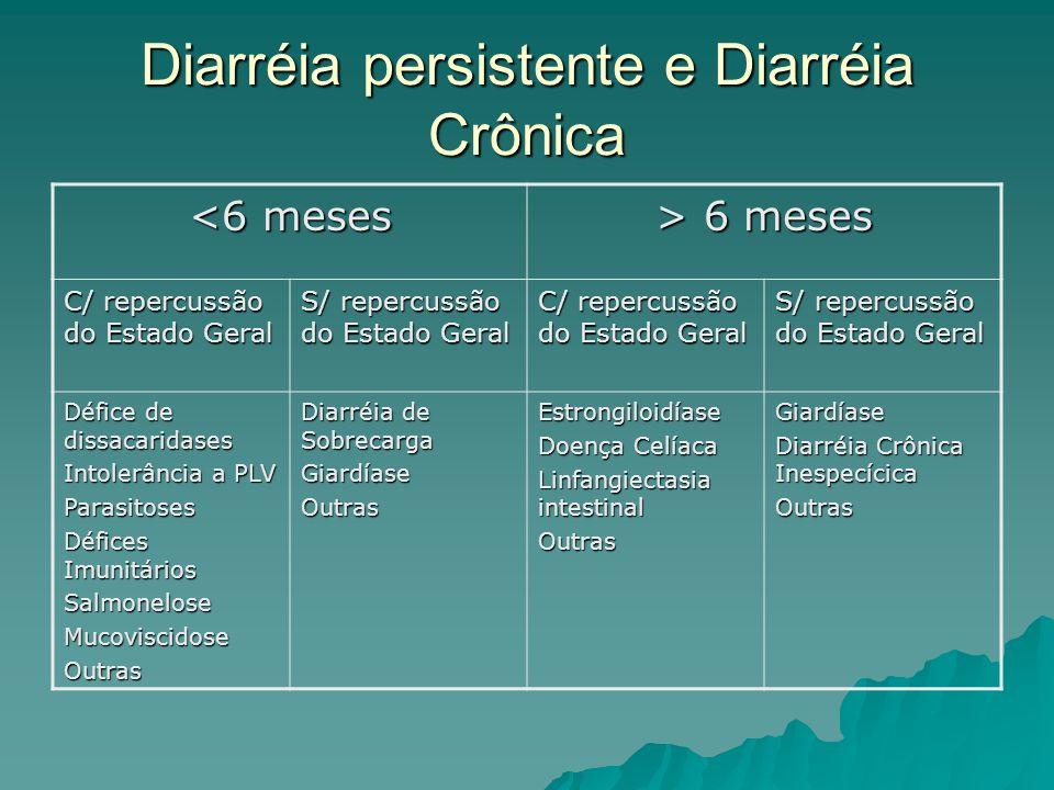 Diarréia persistente e Diarréia Crônica