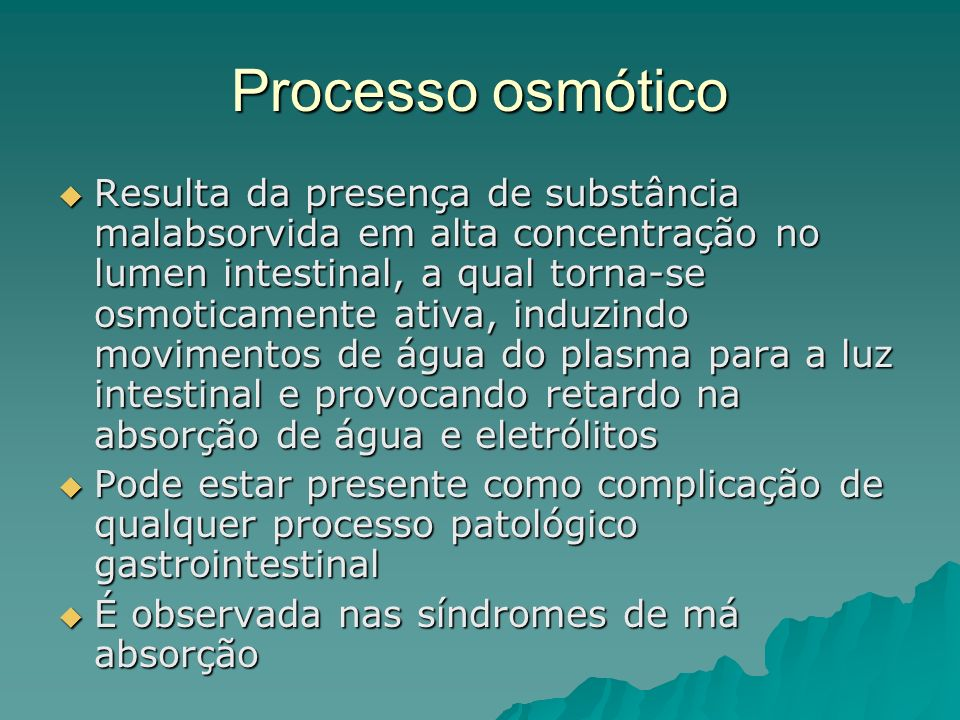 Processo osmótico