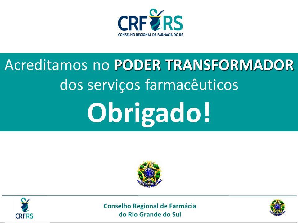 Acreditamos no PODER TRANSFORMADOR dos serviços farmacêuticos