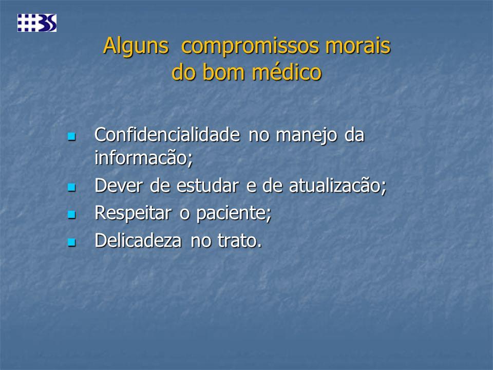 Alguns compromissos morais do bom médico