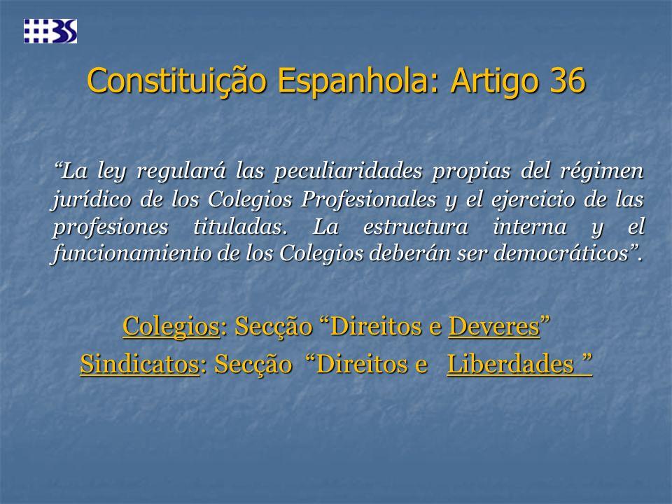 Constituição Espanhola: Artigo 36
