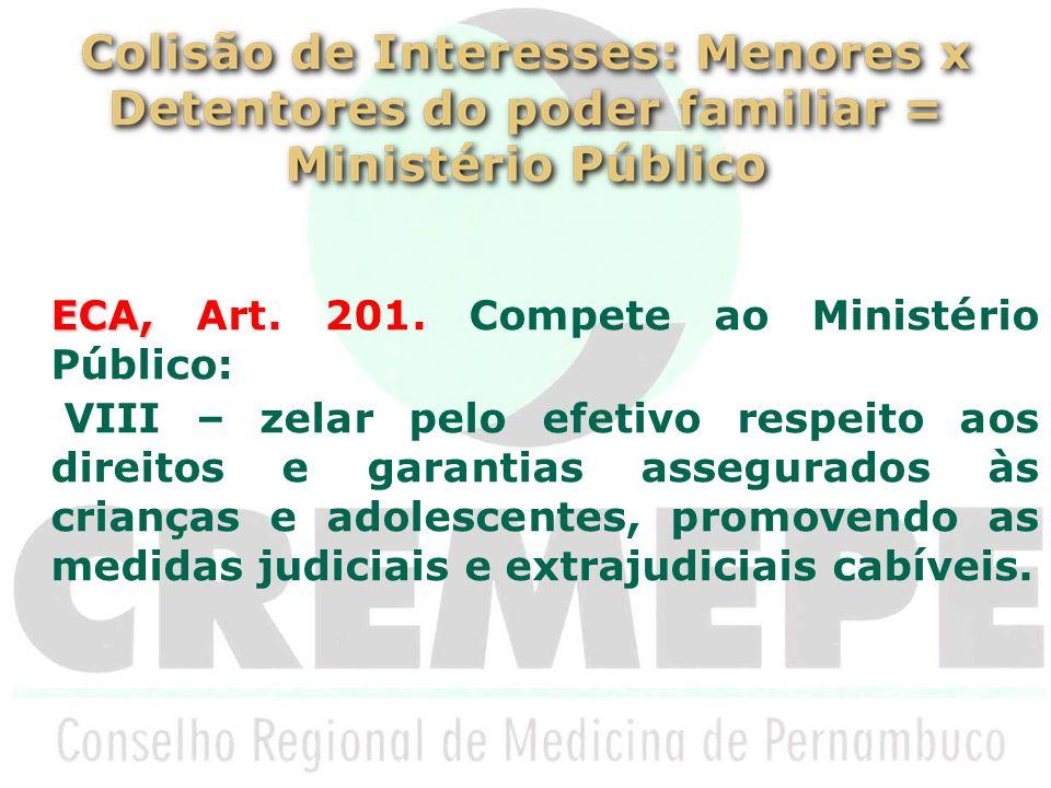 ECA, Art. 201. Compete ao Ministério Público: