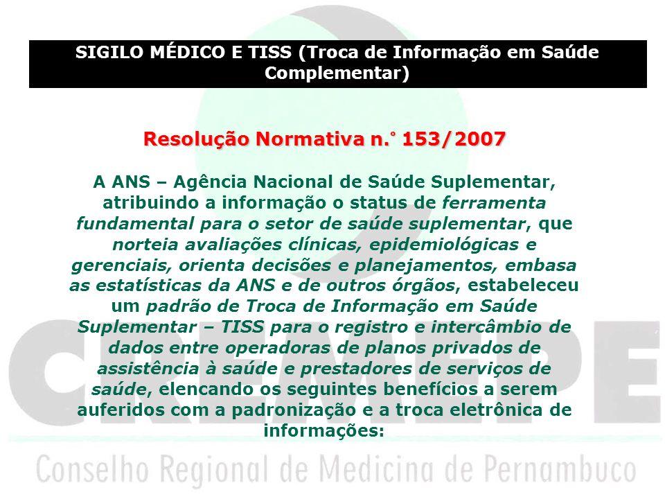 Resolução Normativa n.° 153/2007