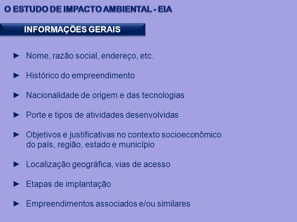 O ESTUDO DE IMPACTO AMBIENTAL - EIA
