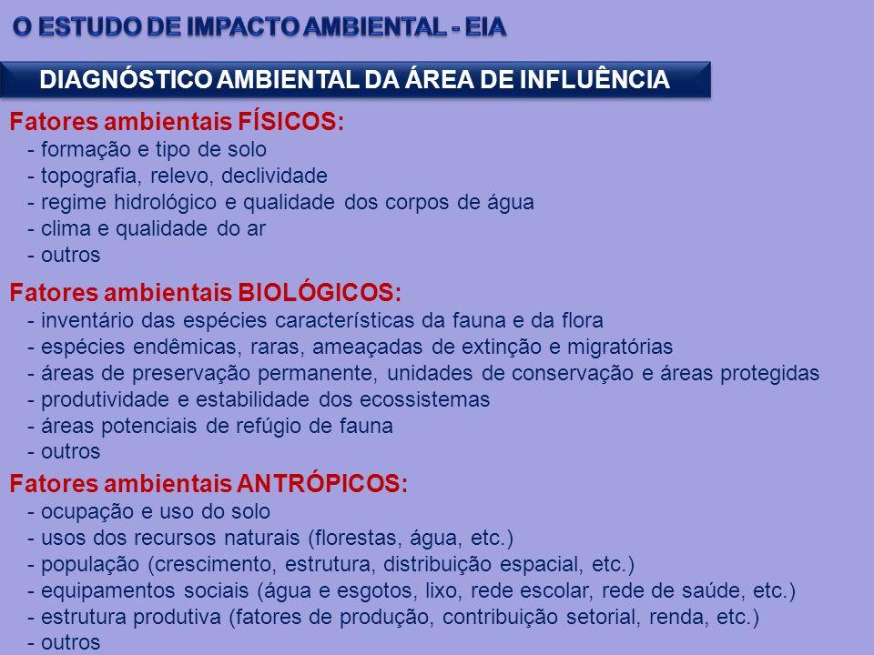 DIAGNÓSTICO AMBIENTAL DA ÁREA DE INFLUÊNCIA