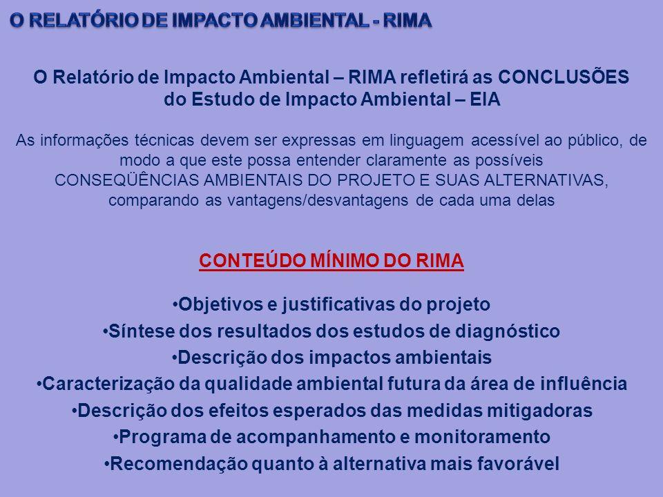 O RELATÓRIO DE IMPACTO AMBIENTAL - RIMA