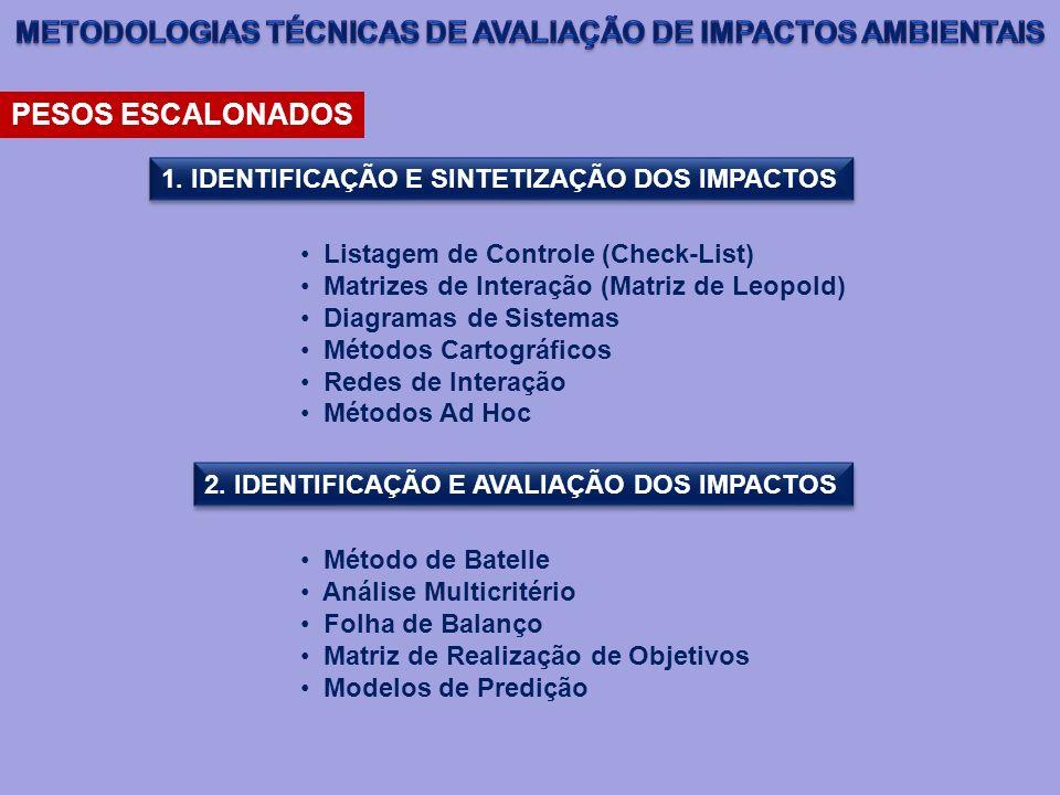 METODOLOGIAS TÉCNICAS DE AVALIAÇÃO DE IMPACTOS AMBIENTAIS