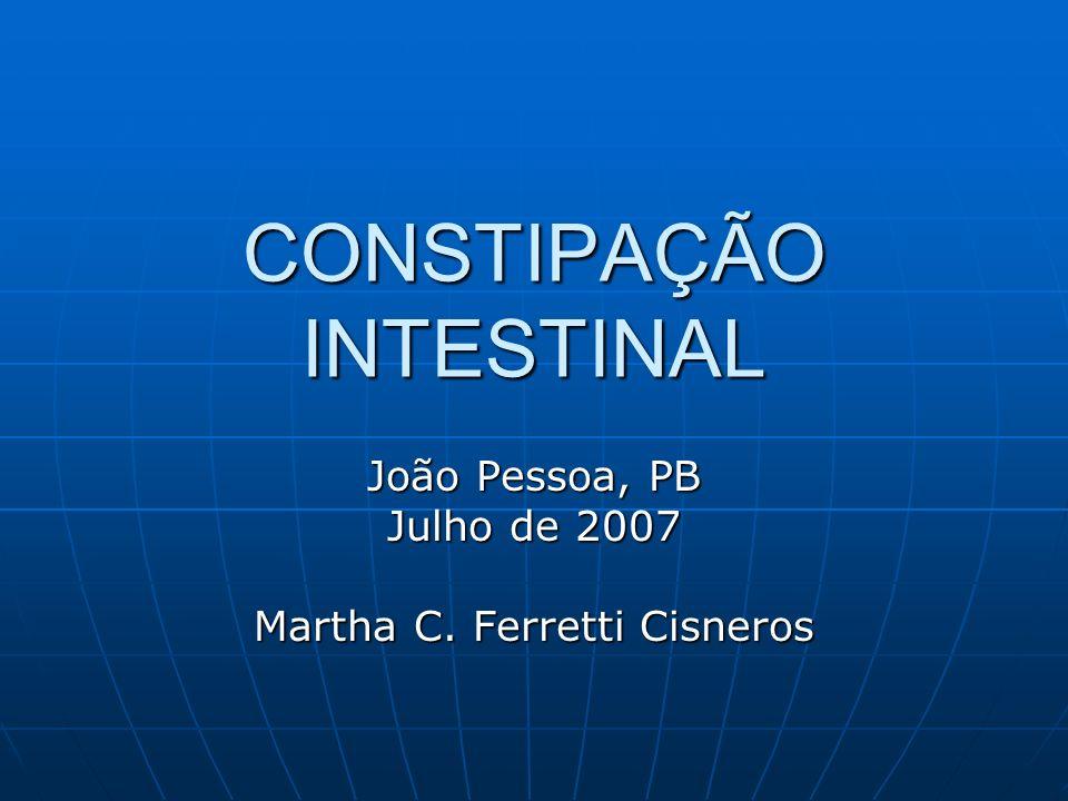 CONSTIPAÇÃO INTESTINAL