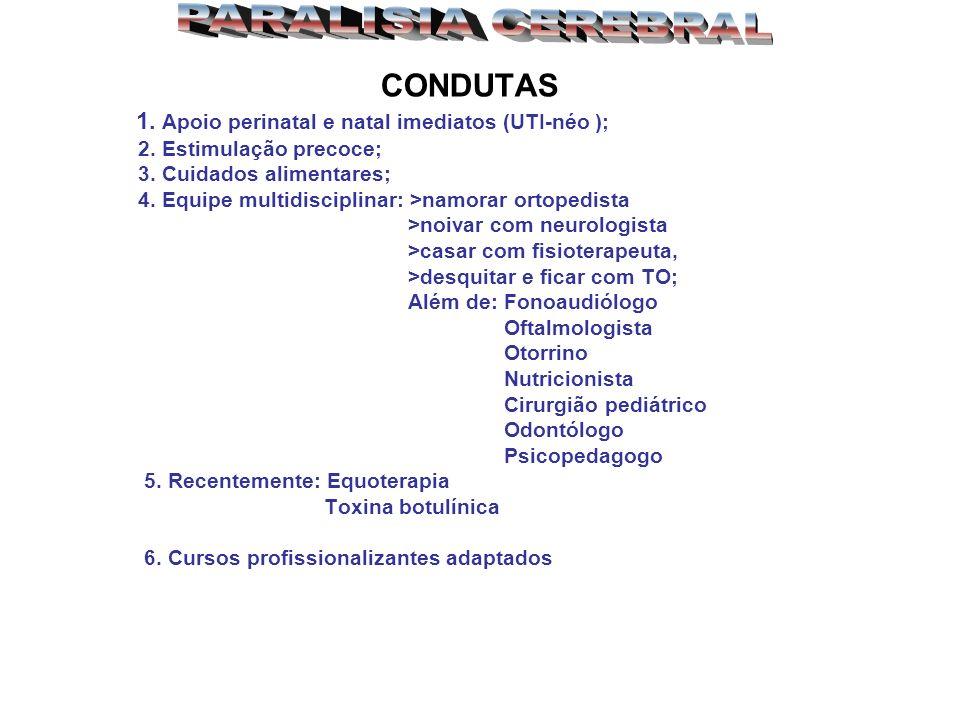 PARALISIA CEREBRAL CONDUTAS