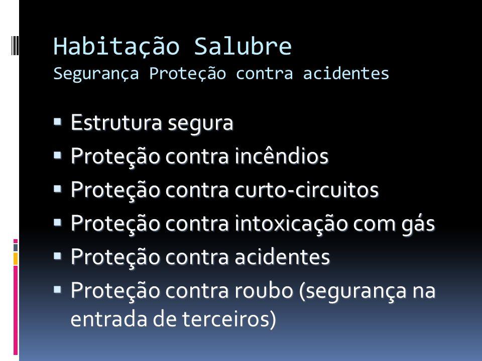 Habitação Salubre Segurança Proteção contra acidentes