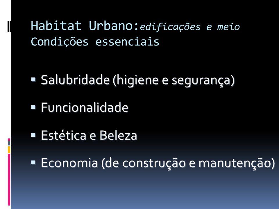 Habitat Urbano:edificações e meio Condições essenciais