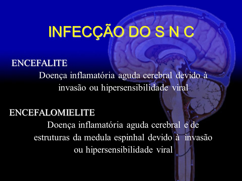 INFECÇÃO DO S N C ENCEFALITE