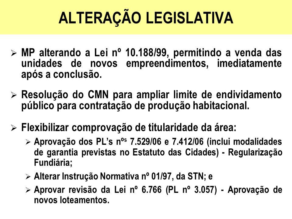 ALTERAÇÃO LEGISLATIVA