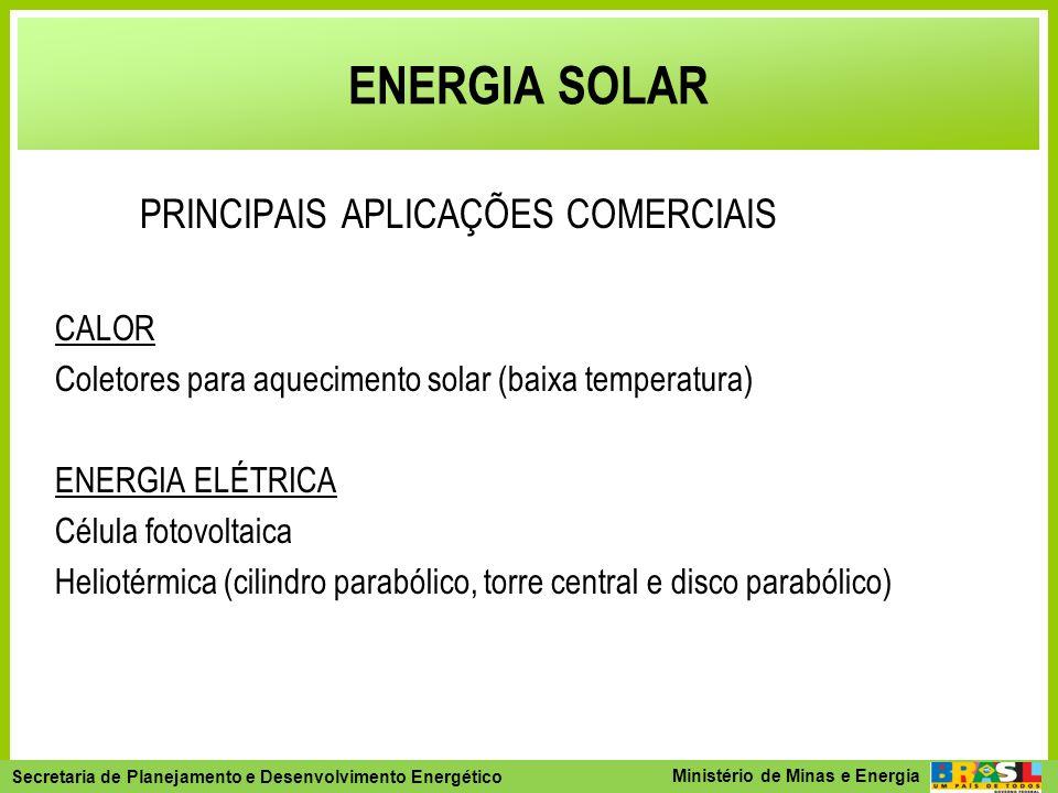 ENERGIA SOLAR PRINCIPAIS APLICAÇÕES COMERCIAIS CALOR