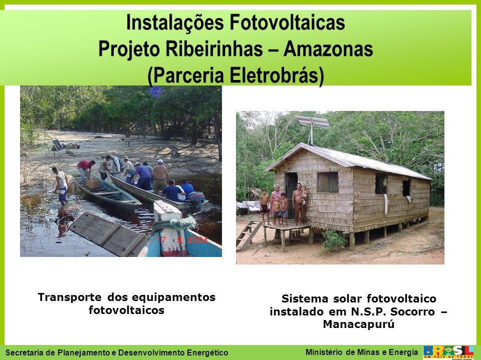 Instalações Fotovoltaicas Projeto Ribeirinhas – Amazonas (Parceria Eletrobrás)