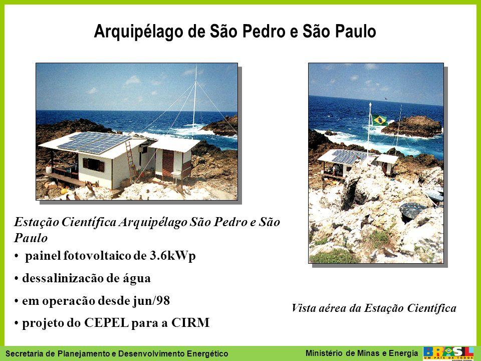 Arquipélago de São Pedro e São Paulo Vista aérea da Estação Científica