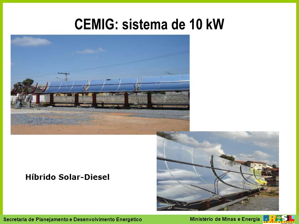 CEMIG: sistema de 10 kW Híbrido Solar-Diesel