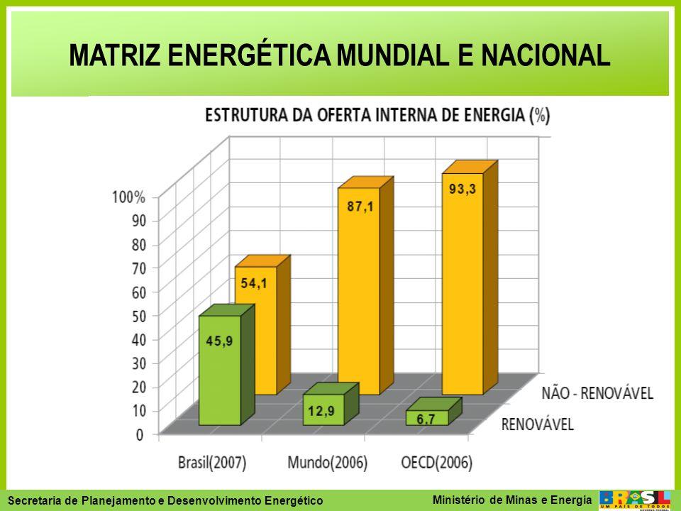 MATRIZ ENERGÉTICA MUNDIAL E NACIONAL