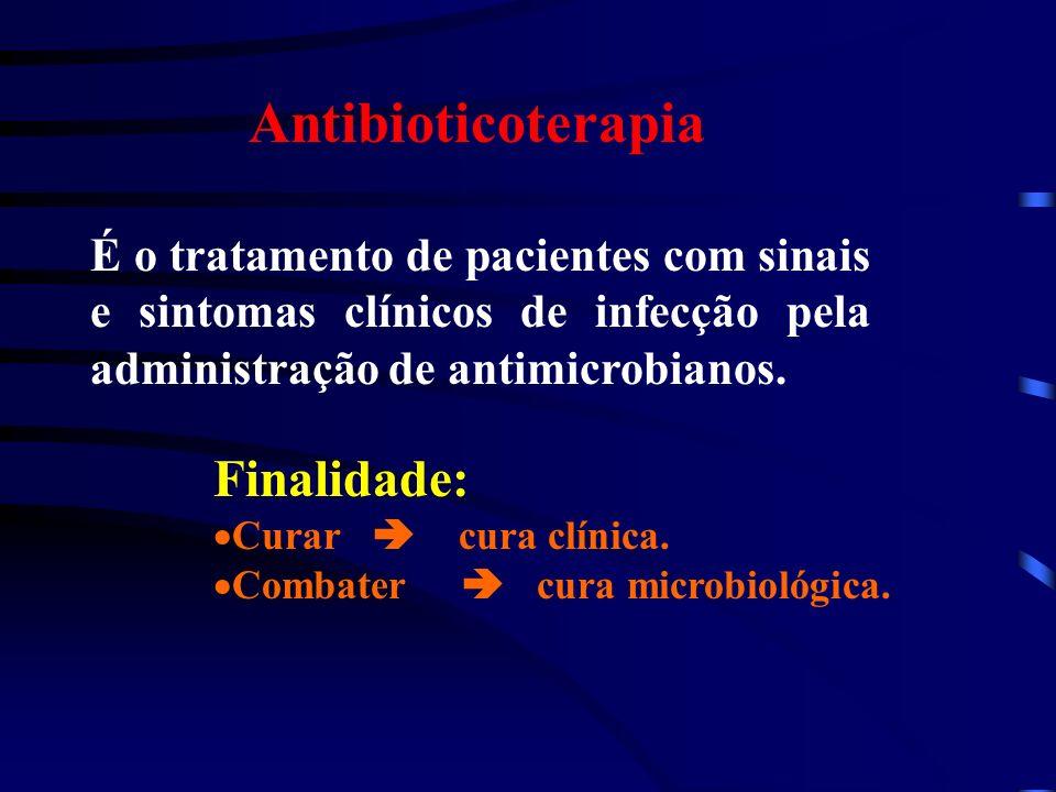 Antibioticoterapia Finalidade: