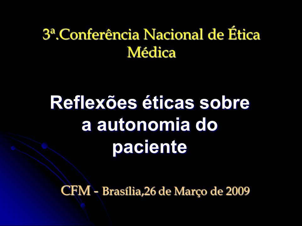 3ª.Conferência Nacional de Ética Médica