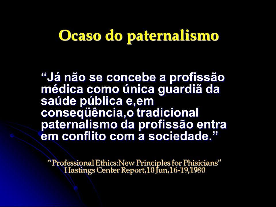 Ocaso do paternalismo