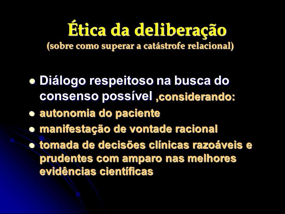 Ética da deliberação (sobre como superar a catástrofe relacional)