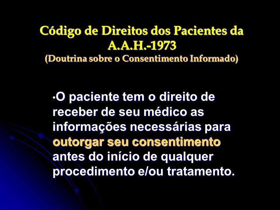 Código de Direitos dos Pacientes da A. A. H