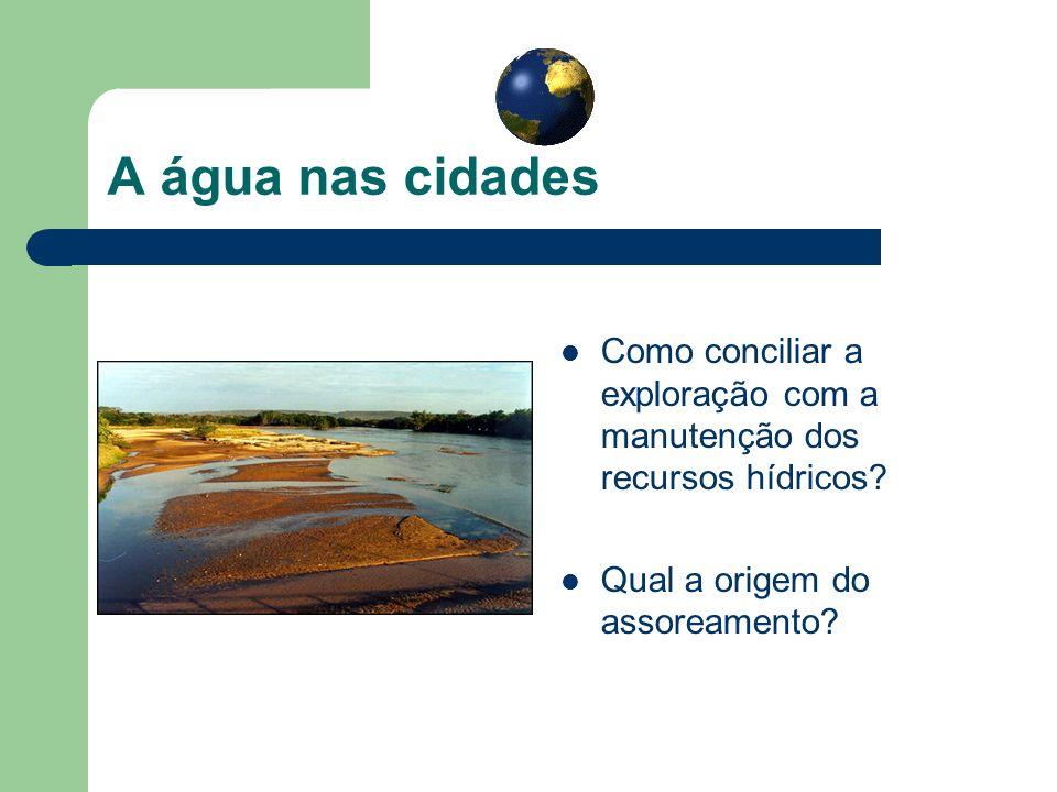 A água nas cidades Como conciliar a exploração com a manutenção dos recursos hídricos.