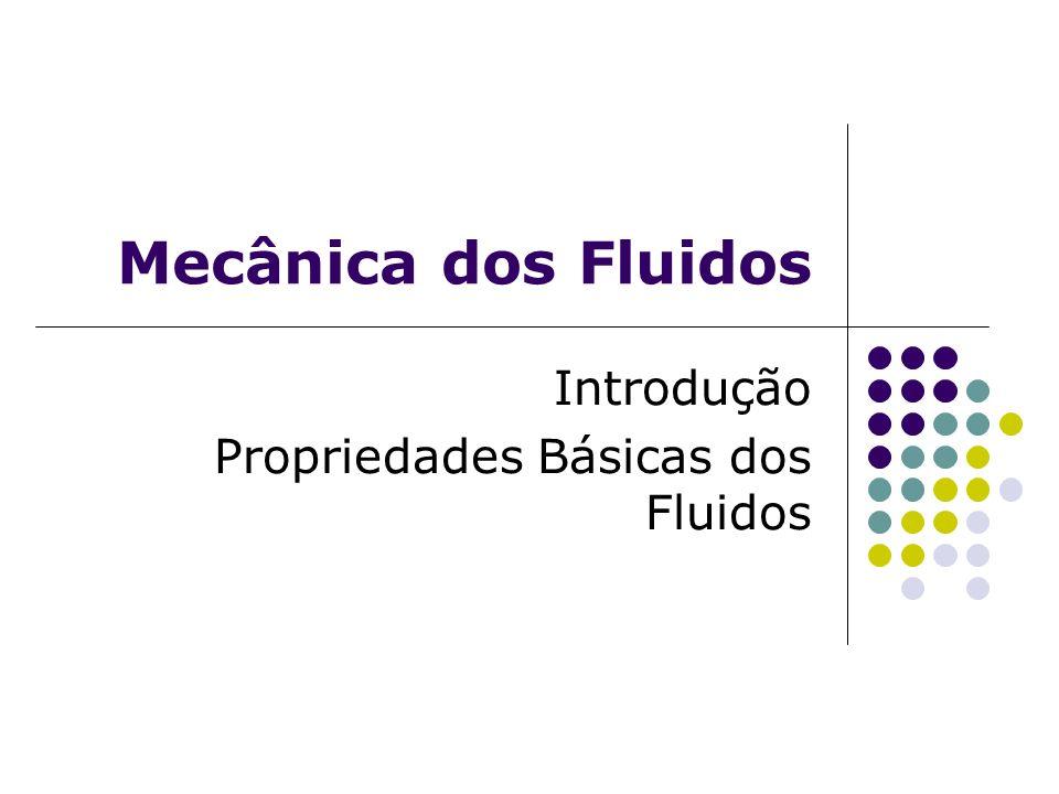 Introdução Propriedades Básicas dos Fluidos