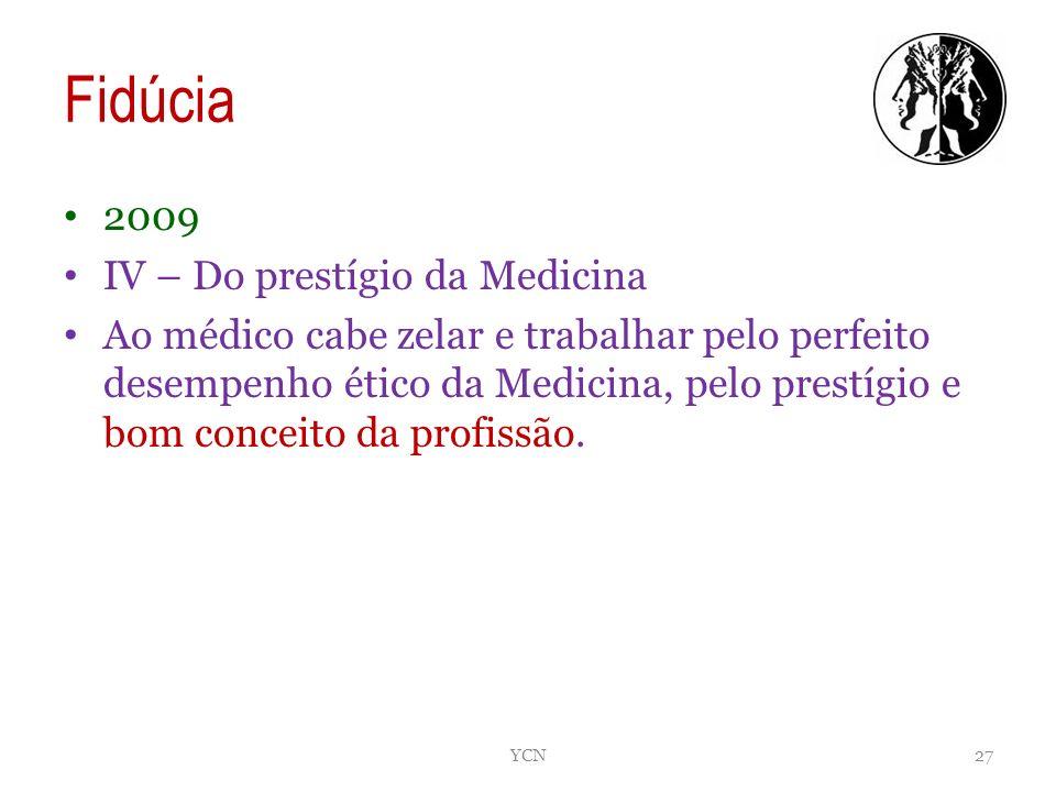 Fidúcia 2009 IV – Do prestígio da Medicina