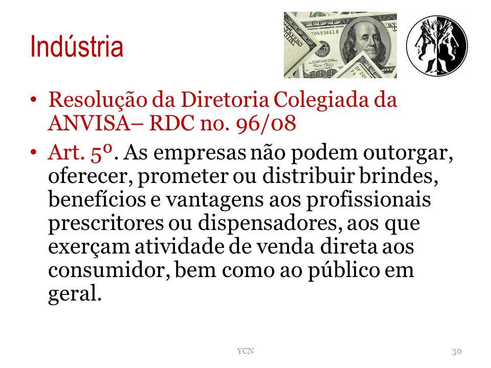 Indústria Resolução da Diretoria Colegiada da ANVISA– RDC no. 96/08