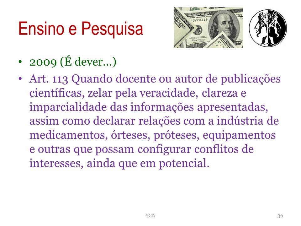 Ensino e Pesquisa 2009 (É dever...)