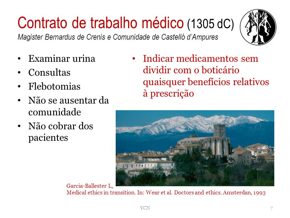 Contrato de trabalho médico (1305 dC) Magister Bernardus de Crenis e Comunidade de Castelló d'Ampures