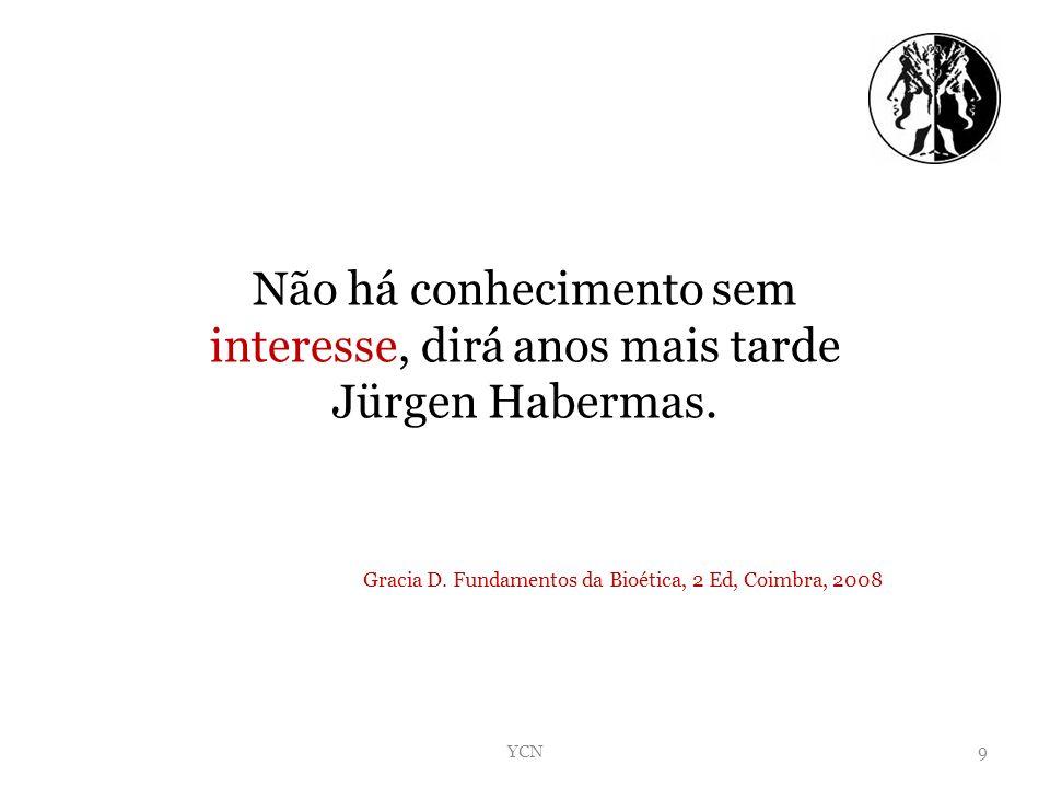 Não há conhecimento sem interesse, dirá anos mais tarde Jürgen Habermas.
