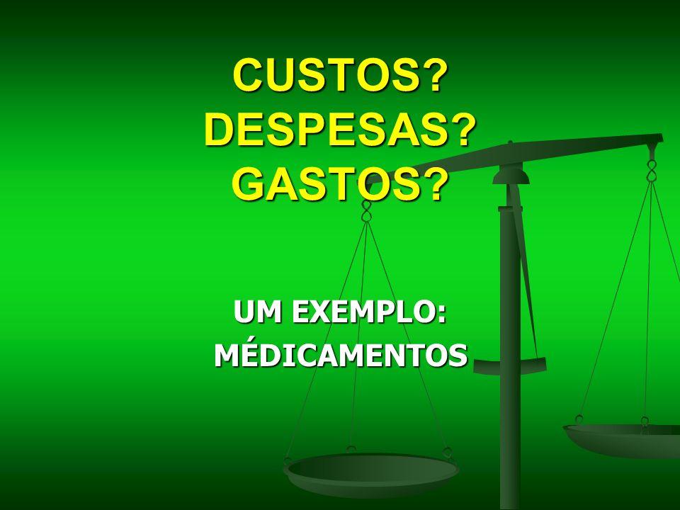 CUSTOS DESPESAS GASTOS