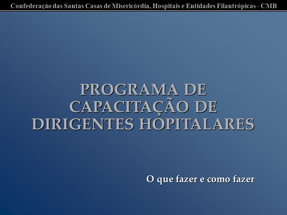 PROGRAMA DE CAPACITAÇÃO DE DIRIGENTES HOPITALARES