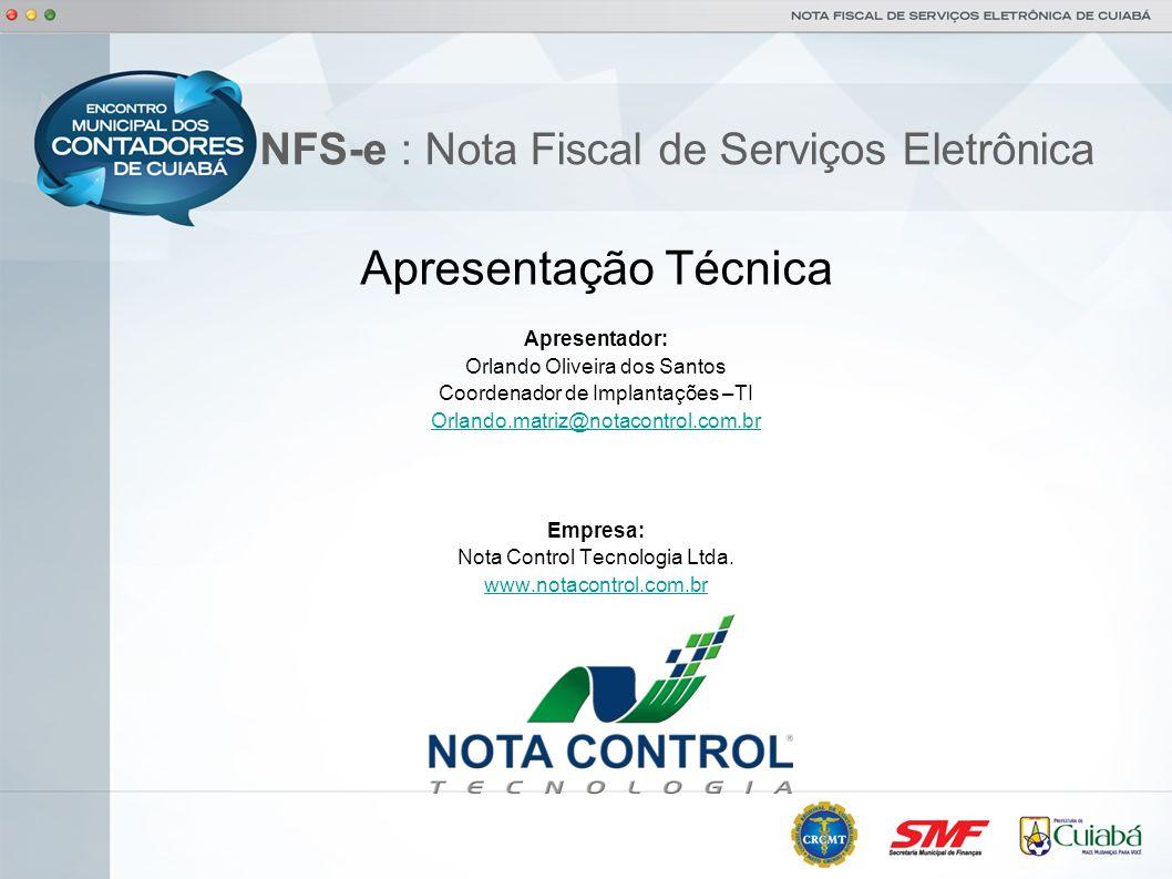 NFS-e : Nota Fiscal de Serviços Eletrônica