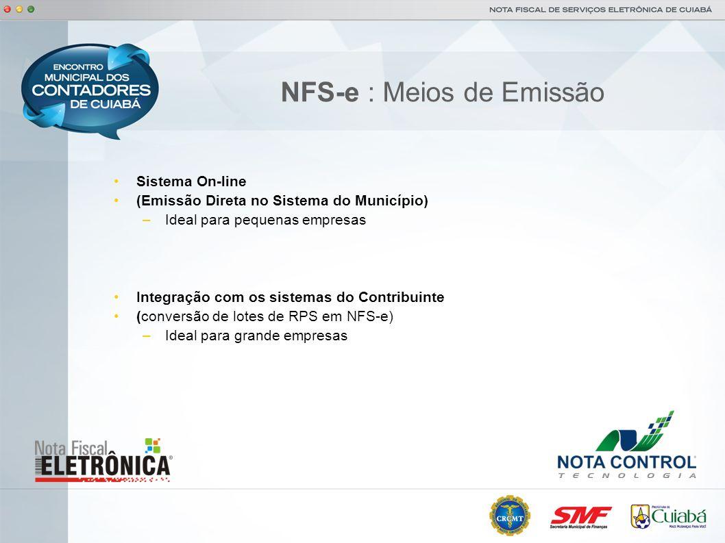 NFS-e : Meios de Emissão