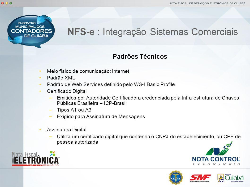 NFS-e : Integração Sistemas Comerciais